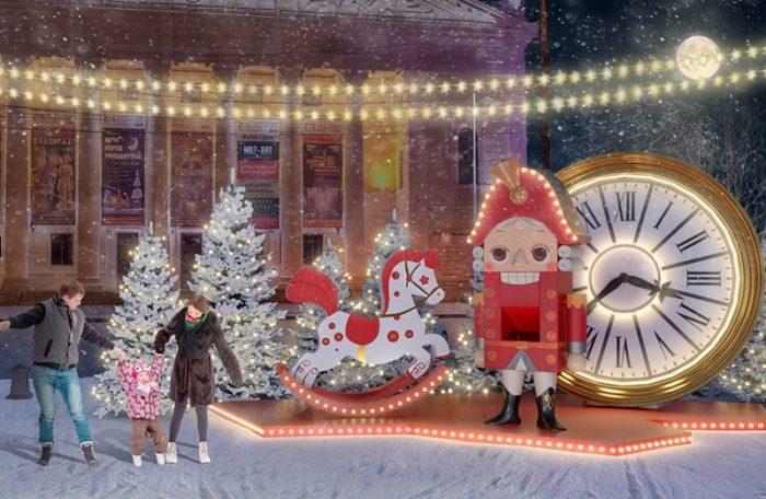На сайте госзакупок опубликовали фото, как будет выглядеть площадь Ленина на Новый год