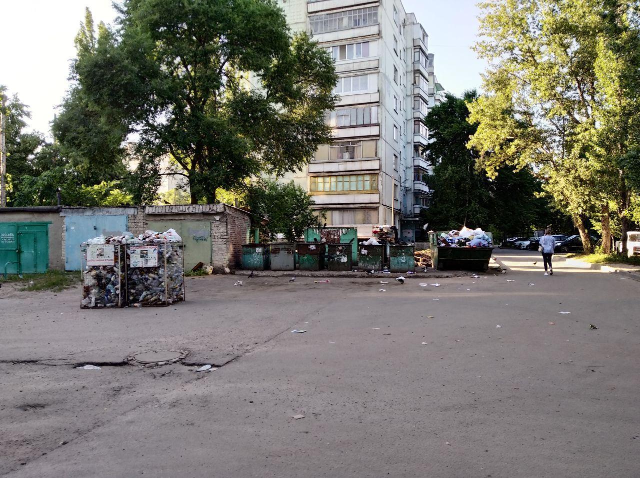 Остужева Воронеж фото мусорка