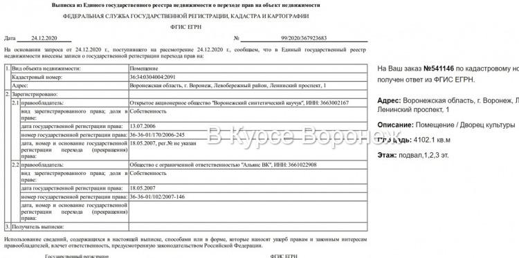 Бомбоубежище под ДК Кирова, из-за которого депутат горДумы сел в СИЗО, исчезло из Росреестра